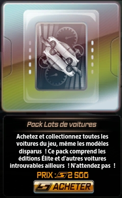 Nfs world pack lots de voitures